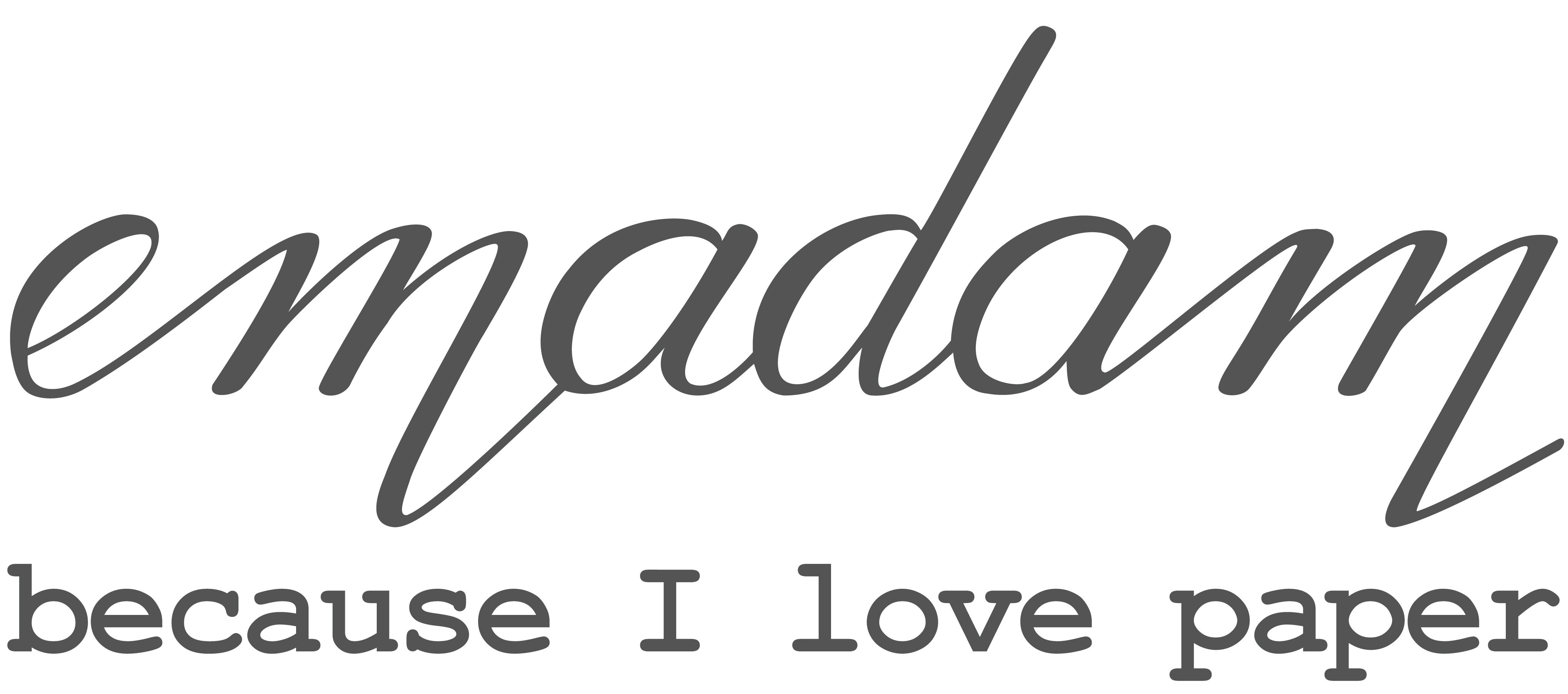 Emadam - Because I love Paper-Logo
