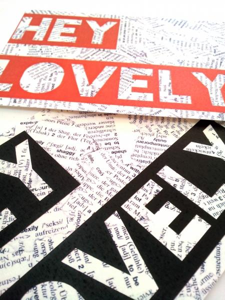 "Postcards ""HEY LOVELY"""