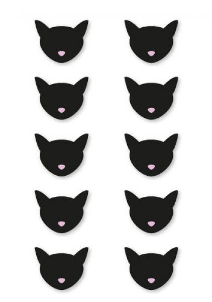 10 x black cat sticker