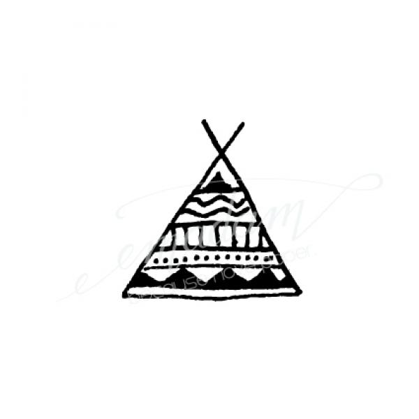 Rubber stamp - Tipi