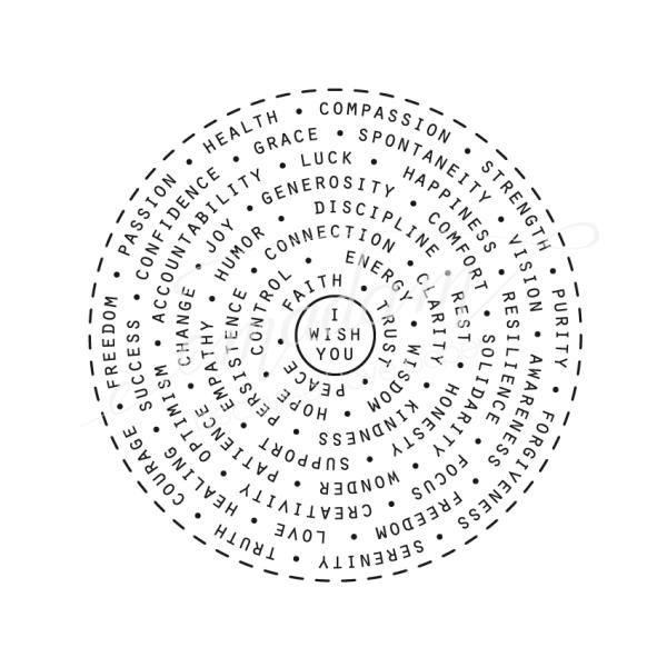 Rubber stamp - Wishes circle