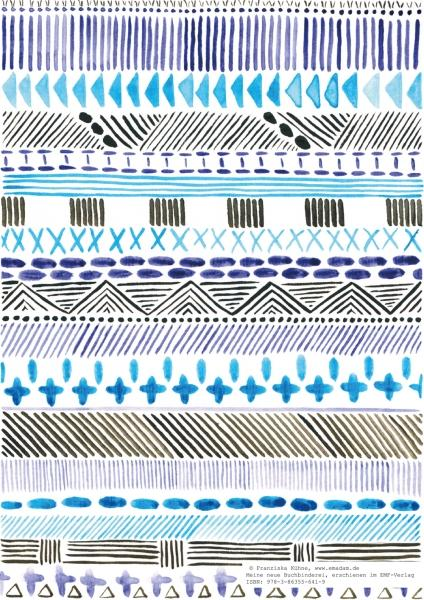 "Pattern ""Blue and black folklore"""