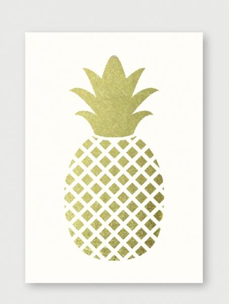 "Original - ""Golden Pineapple"" Print"