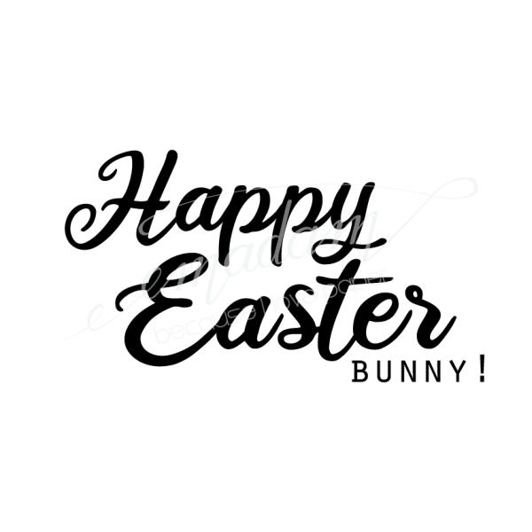 Rubber stamp - Happy easter bunny!