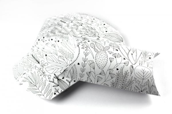 Pillow box - Floral, 10 pieces
