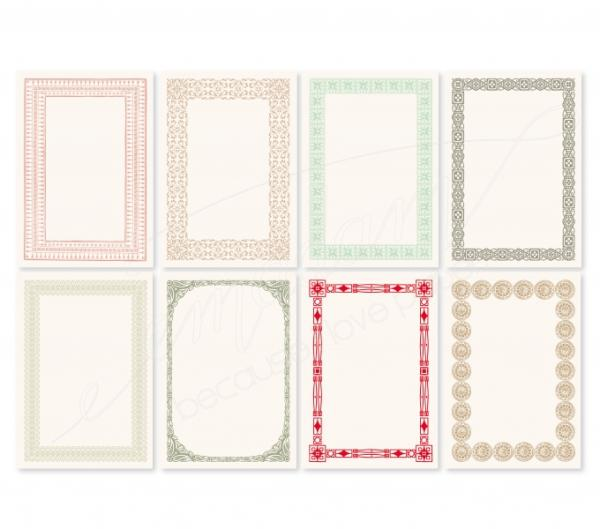 Notecards - Vintage-set, various colors, 250 pieces