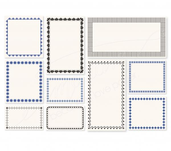 Notecards - Vintage-set, 250 pieces