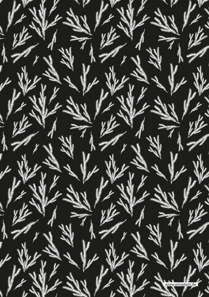 "Pattern ""Fir brunch black background"""