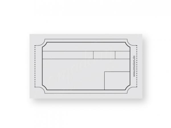 Notepad - Vintage-ticket, grey