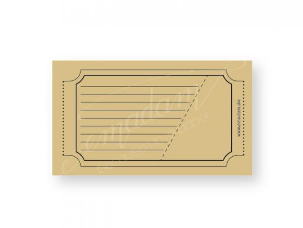 Notepad - Vintage-ticket, caramel