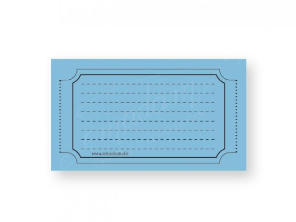 Notizblock - Vintage-Ticket, Mittelblau