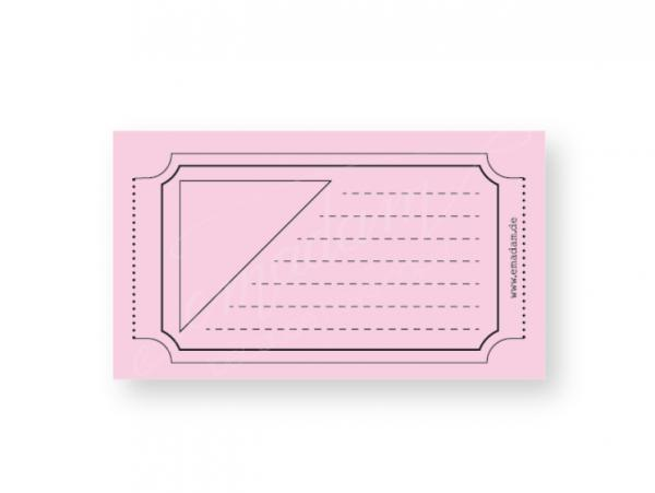 Notepad - Vintage-ticket, Rose
