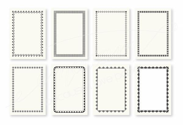 Notepad Set - Various Vintage border