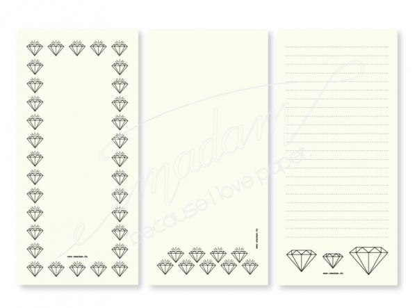 Notepad Set - Diamonds B