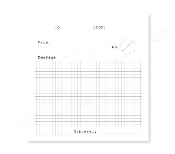 Notepad - To-From-Message, black