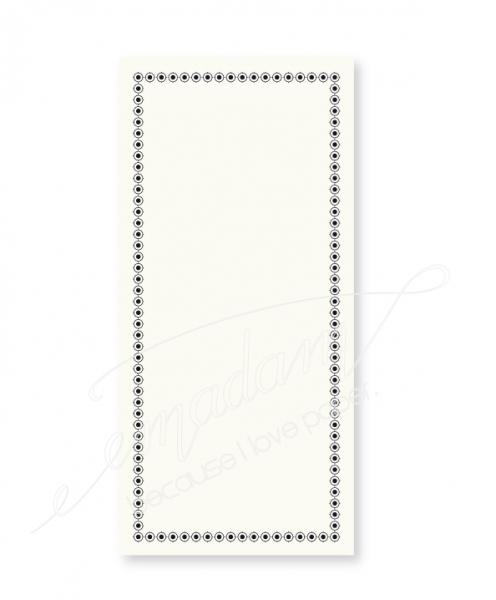 "Notepad - Vintage border ""Crosshairs"""