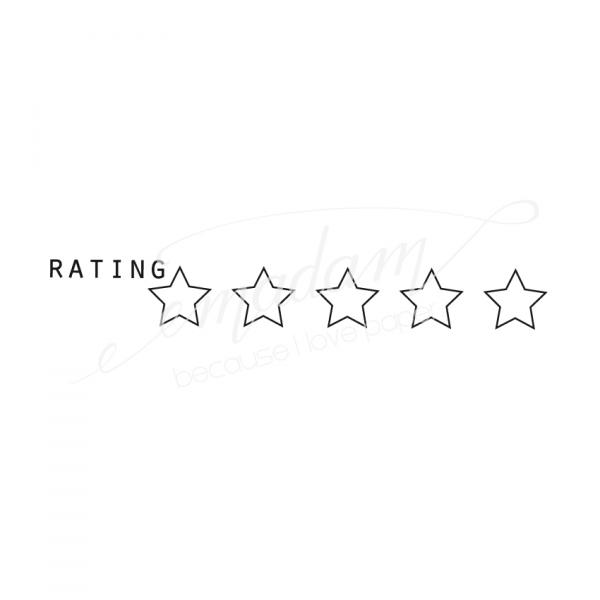 Rubber stamp - Rating with stars