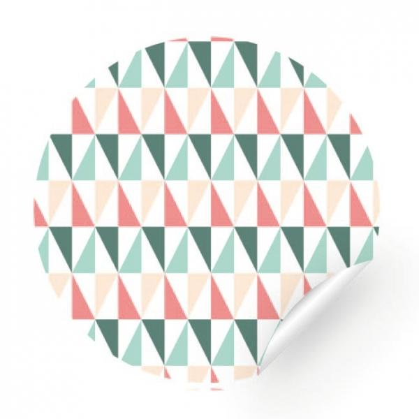 Sticker - Pink and blue triangle, 24 pieces