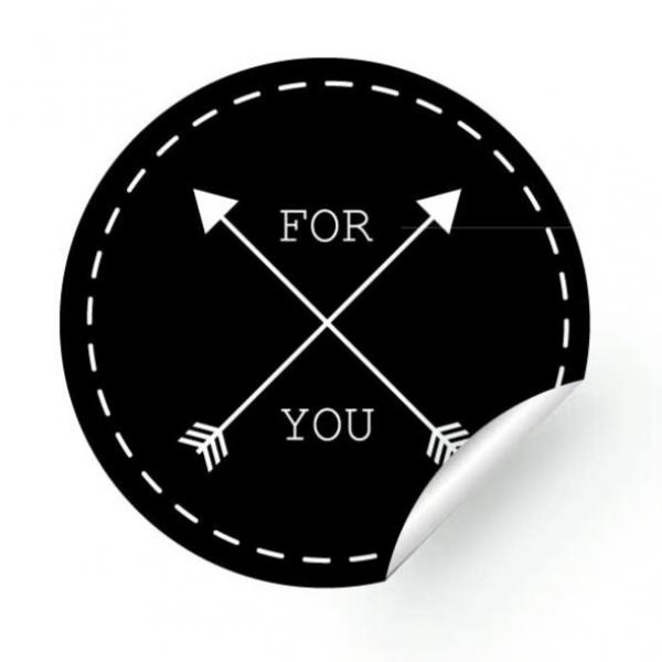 25 Sticker - FOR YOU, 40 mm, round
