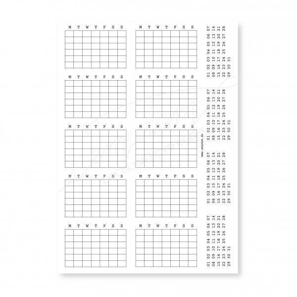 Stickersheets - Planner No.1