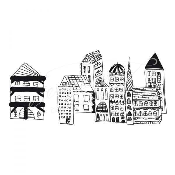 Rubber stamp - Little houses No.3