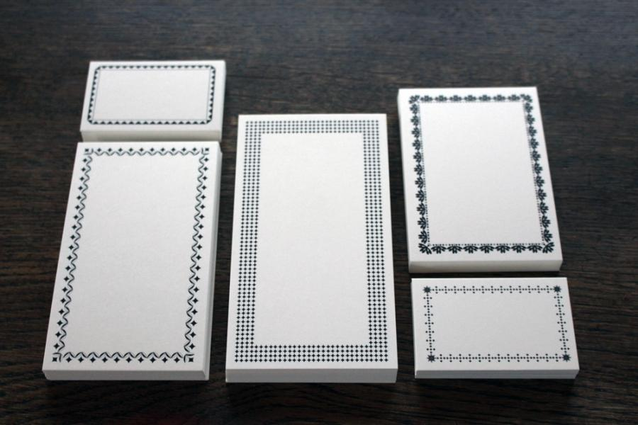 Notecards - Vintage-set, 125 pieces