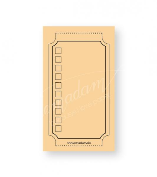 Notepad - Vintage-ticket, pastel-orange