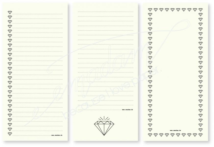 Notepad Set - Diamonds A