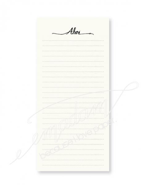 "Notepad - ""Ahoi"" lined"