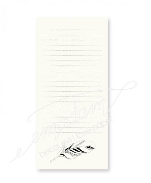 Notepad - Feather (bottom)