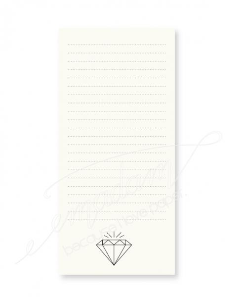 Notepad -  Big diamond, lined