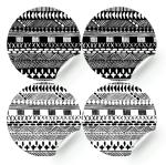 sticker black and white bohemian