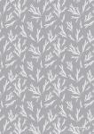 "Pattern ""Fir brunch grey background"""