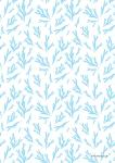 "Pattern ""Fir brunch light blue"""